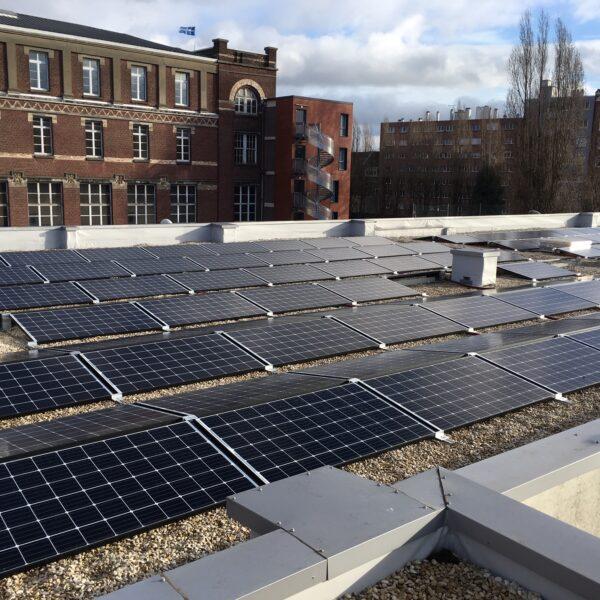 Installation panneaux solaires ICAM l Silicéo